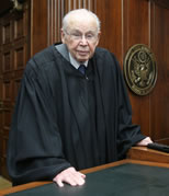 oldest serving judge Wesley Brown