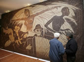 largest coffee bean mosaic Saimir Strati
