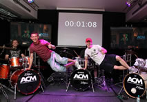 longest marathon drumming by a team world record set by the Academy of Contemporary Music in Guildford
