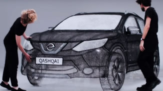 Nissan has created the world's largest sculpture using innovative 3D pen technology, drawing a stunning full-sized replica of the new Qashqai Black Edition to celebrate the crossover's launch. Led by artist Grace Du Prez, the team of artists brought the Qashqai Black Edition to life with an astonishing 13.8 kilometres of plastic strands.