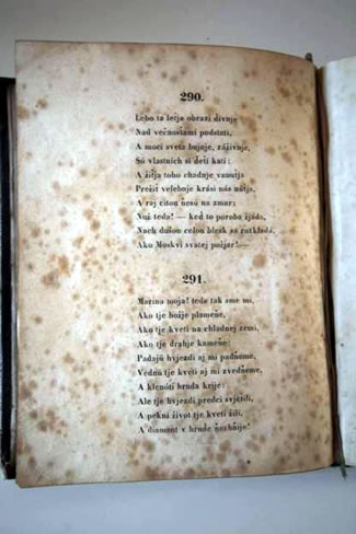 he title page of first edition of love poem