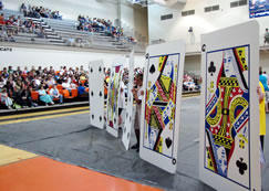 worlds largest pack of playing cards made by Lynn camp students