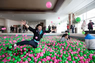 Kerry Hotel Pudong in Shanghai has created the world's largest ball pit
