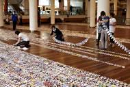 Longest chain of paper dolls: Julia Donaldson breaks Guinness World Records' record