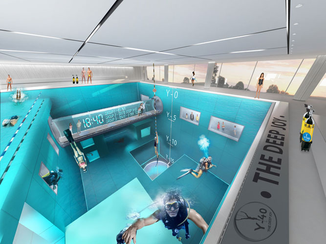 Deepest swimming pool italian pool breaks guinness world records 39 record video for World s largest swimming pool depth