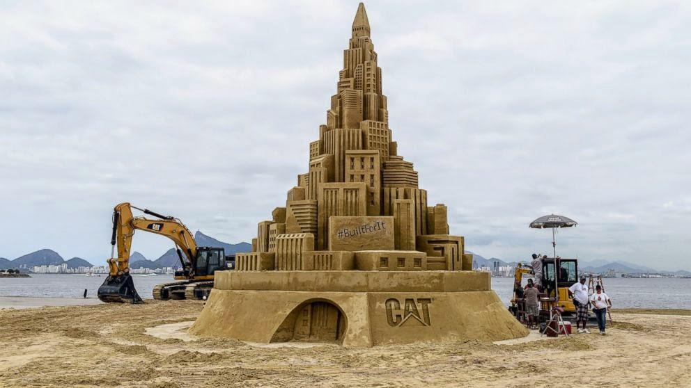 Tall sand castle