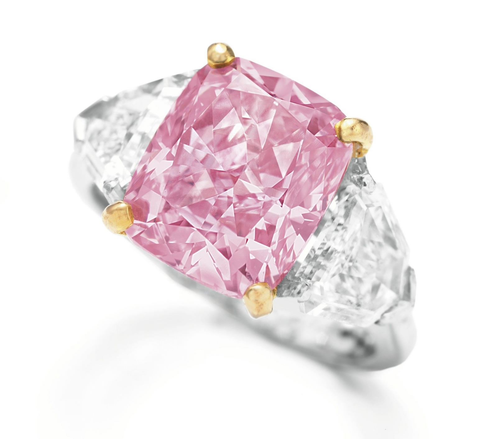 Most Expensive Diamond-\'Vivid Pink\' sets world record
