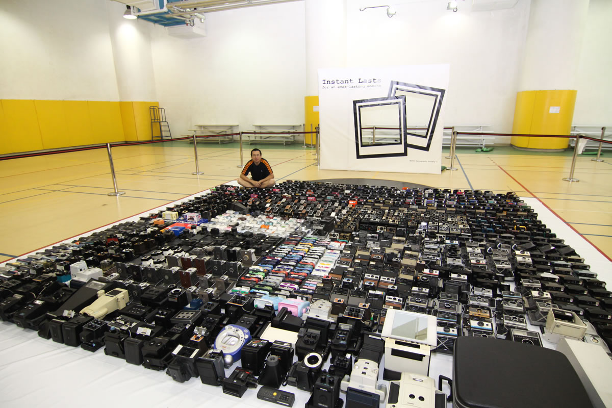 Largest instant camera collection: Wong Ting Man sets ...