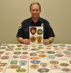 largest collection of fire patches Bob Brooks