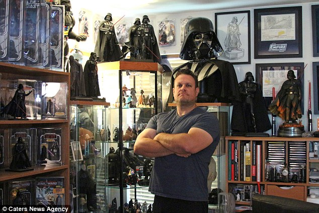 Largest collection of Darth Vader memorabilia: Bill ...