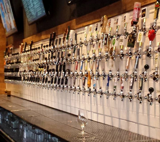 The Raleigh Beer Garden in Raleigh, North Carolina, a three story beer garden, have the most beer taps in the world, 366. The 8,500-square-foot, two-story beer garden hosts 144 local brews on the first floor, and 222 beers from the rest of the US and the world upstairs.