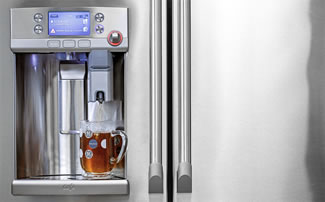 GE and Keurig are making a $3300 refrigerator that brews K-Cup coffee.