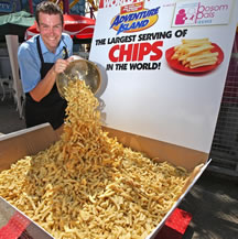 largest serving of chips James Gibbs