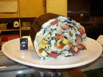 largest sushi dish Umewaka Restaurant