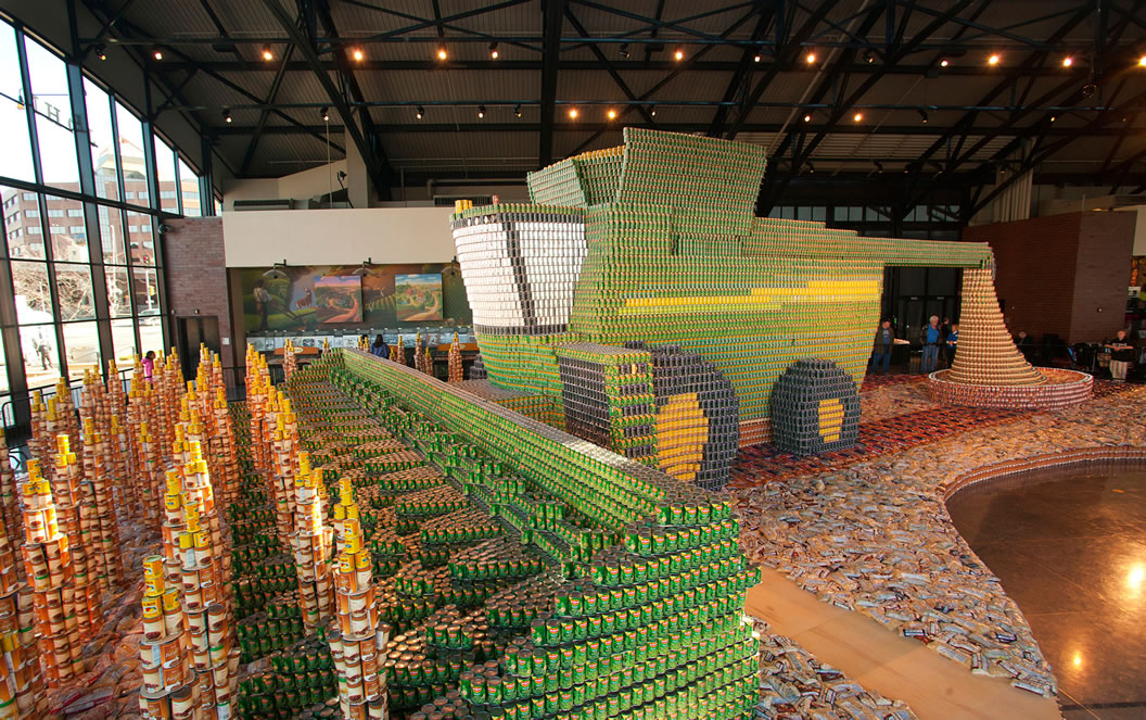 Largest Canned Food Structure Can Combine Sets World