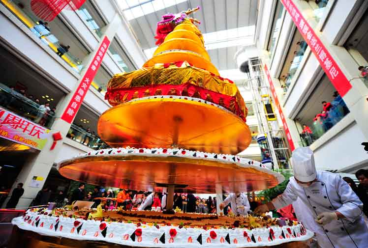 Tallest cake: China sets world record (Photos)