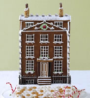 VeryFirstTo, an online luxury retailer, is offering a miniature replica of your house in organic gingerbread form, topped with 150 pearls and a five-carat Mozambique ruby. The cookie itself is made by Britain's popular Georgia Green of Georgia Cakes, who has designed cakes for DKNY among others. She's using organic ginger, Ceylon cinnamon, Duchy organic eggs, Suma raw cane sugar and more premium ingredients for this top-of-the-line creation.