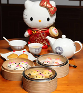 The World's First Hello Kitty Chinese Restaurant Has Opened in Hong Kong. The menu consists of 37 items ranging from fresh shrimp buns to stir-fried beef and noodles.