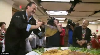 New Orleans Italian American Marching Club, has served up the biggest bowl of pasta ever.