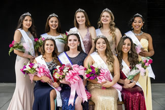 The Gilroy Garlic Festival is now officially in the Book of World Records as the largest garlic festival in the world. Maggie Pickford (seated, second from left) was crowned the 2017 Miss Gilroy Garlic Festival Queen at the annual scholarship pageant held on May 13 at Gilroy Gardens Family Theme Park.