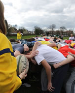 largest rugby scrum