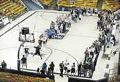 largest game knockout basketball Utah State University