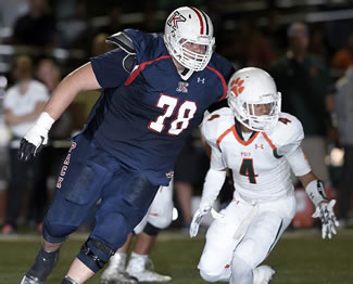 Meet John Krahn, the Martin Luther King High School linebacker who stands 213 centimetres high and weighs almost 200 kilograms, making him arguably the biggest football player in the history of the game and certainly the largest currently playing.