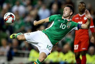 By scoring a goal at international level in 19 consecutive years, Robbie Keane has achieved a feat unparalleled in the history of football. Ireland's Robbie Keane scores Ireland's second goal against Oman.