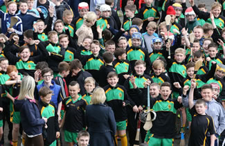 A total of 575 pupils, co-ordinated by Head of PE Conor Hynds, took part in the Largest hurling lesson, at the St Mary's Christian Brothers' Grammar School's, impressive facilities on the Glen Road, Belfast, according to the World Record Academy.