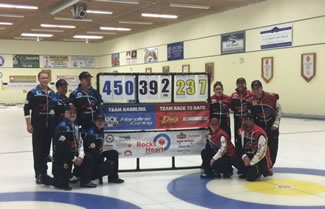A group of 10 area curlers, who participated in a marathon bonspiel at the Coldwater District Curling Club ended their latest marathon game after playing continuously for 105 hours, six minutes and 51 seconds, thus setting the new world record for the Longest marathon curling, according to the World Record Academy.
