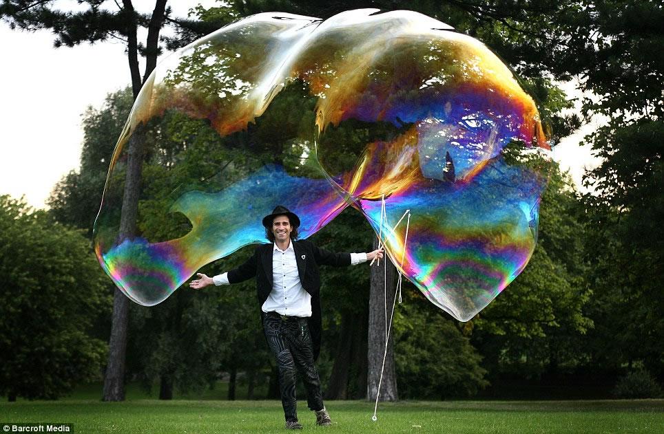 Largest Soap Bubble Free-floating Soap Bubble