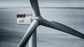 MHI Vestas Offshore Wind unveiled its uprated 8 MW wind turbine, enabling its 8 MW platform to reach 9 MW at specific site conditions. The company's prototype at Østerild broke the energy generation record for a commercially available offshore wind turbine, producing 216,000 kWh (actual figures 215,999.1 kWh) over a 24 hour period.