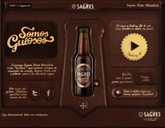 first website made of chocolate Sagres Preta Chocolate