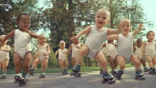 Evian Roller Babies most viewed online ad