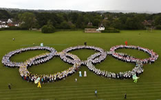 largest human olympic logo Surrey County Council