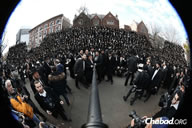 NEW YORK CITY, NY, USA -- About 1,830 Orthodox rabbis tried to win the selfie game by taking one with all of them together during the 31st annual Conference of Chabad-Lubavitch Emissaries in Crown Heights; Guinness World Records doesn't yet have a category for such a feat but fortunately, World Record Academy has UNLIMITED categories and recognized their achievement as the World's Largest Religious Selfie.