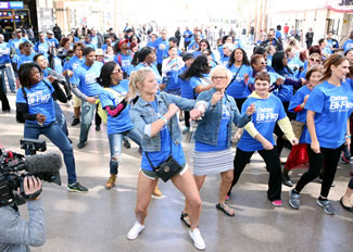 More than 250 Participants Gathered to Learn and Perform the High-Energy Merengue with Osteo Bi-Flex, led by Mary Murphy.