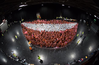 To celebrate National Smile Month, UofG's Dental School & UofG Dental Alumnus Association joined forces and organised a World Records attempt - to create the world's largest smile.