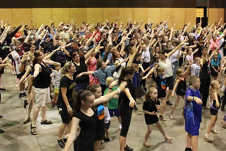 On World Tap Dance Day, May 25, Mackay set the world record for the largest tap dance lesson in a single venue. With stewards recording participants to meticulous standards, 274 tappers took part in the lesson.