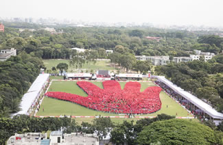On Global Handwashing Day, 11,000 children gathered along at Dhaka's Residential Model College field to form the 'World's Largest Human Image of a Hand', according to the World Record Academy.