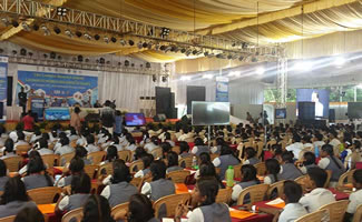 As many as 1,049 students at the India International Science Festival (IISF) in Anna University, Chennai, set a World Record for the Largest Biology Lesson.