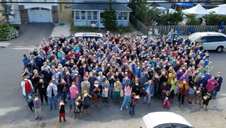 During the Sea Glass and Art Festival, Things A-Drift/Echoes of LBI in Ship Bottom was the site of a new World Record, with 327 persons all blowing conch horns simultaneously, according to the World Record Academy.