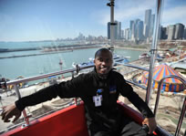 longest Ferris wheel ride world record set by Clinton Shepherd