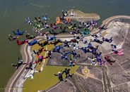 largest skydive formation Skydivers Over Sixty