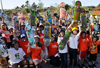 largest skateboard lesson at Etnies Skatepark
