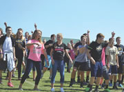 On Friday, Sept. 20, sixth, seventh and eighth grade students from across the county stood on Castle South Middle School's football field to make history.
