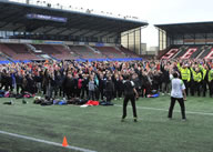 The World Record Attempt for 'Most number of people exercising to a fitness video' was part of the 'Big Viking Health Kick-Off', a campaign to raise awareness about the importance of knowing your blood pressure.