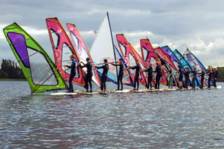 14 members of the Plankenkoorts Student Windsurf Association set sail from Valkenburg Lake, in Leiden, on a 35.7-meter (117 feet) long windsurf board; the group successfully managed to sail away, thus setting the new world record for the longest windsurf board.