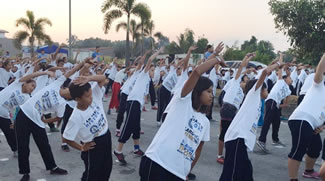 A total of 16,218 participants joined the fitness dance class surpassing Mexico's record set on Mar. 25, 2012 with 6,630 participants.