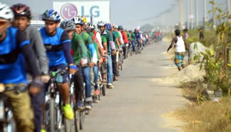 BDCyclists, a community based social network of cyclists, has broken the Guinness World Records of Longest single line of moving bicycles. A total of 1186 people joined the event and it was taken place on the 300 Feet Road, International Convention City, Bashundhara, Dhaka.